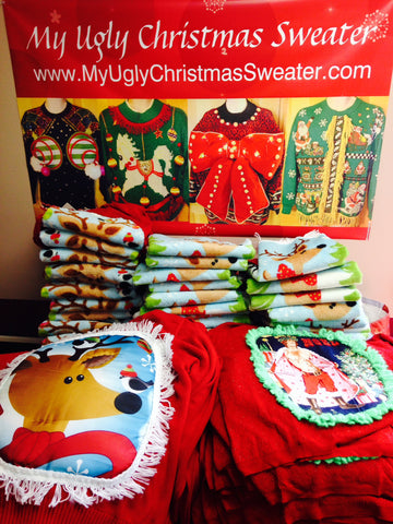 Crafty #uglychristmassweaters from www.MyUglyChristmasSweater.com . DIY party favorites and contest winners.