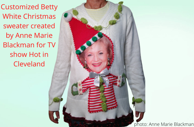 betty white ugly christmas sweater from hot in cleveland
