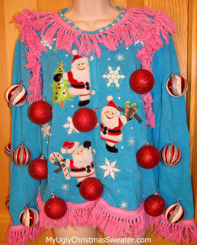 pink-fringe-blue-vintage-christmas-sweater