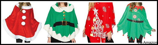 plus-size-christmas-sweater-poncho-options