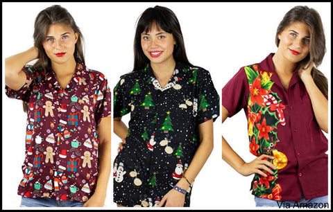 womens-plus-size-christmas-hawaiian-shirt