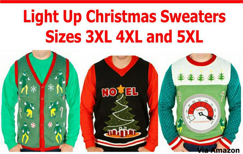 plus sized light up Christmas sweaters from Festified