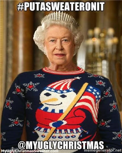putin christmas sweater queen elizabeth chrsitmas sweater - Hilarious Ugly Christmas Sweaters