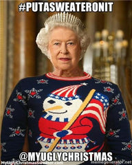 Queen Elizabeth Chrsitmas sweater