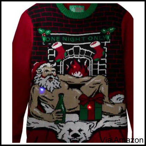 romantic santa christmas sweater