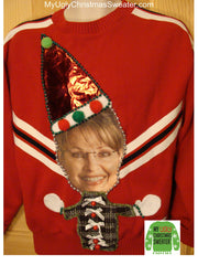 Sarah Palin Christmas sweater