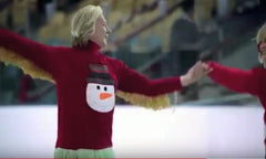 serguei soukhanove ice skating in bank of america ugly christmas sweater commercial