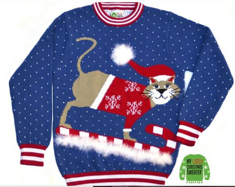 sledding-cat-christmas-sweater-with-snow