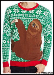 Sloth Christmas Sweater.Christmas Sweaters On Fox And Friends