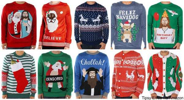 tipsy,elves,mens,sweaters