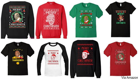 mike tyson christmas sweaters