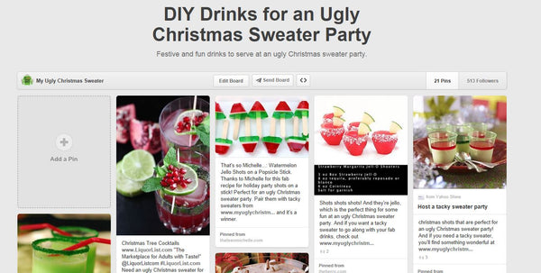 ugly christmas sweater party drinks ideas from www.myuglychristmassweater.com
