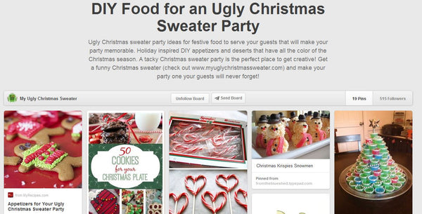 food for an ugly christmas sweater party ideas from wwwmyuglychristmassweatercom