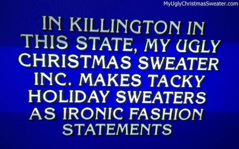 38e789518 ugly christmas sweaters on jeopardy december 2011