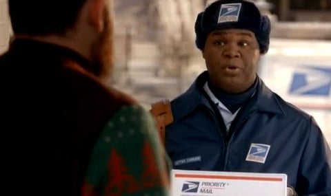usps christmas sweater commercial