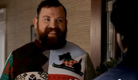 usps ugly christmas sweater tim paul