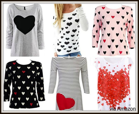 Valentine Tops Heart Themed