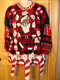 candy cane bear sweater myuglychristmassweater.com