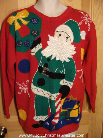 Retro 80s Red Christmas Sweater
