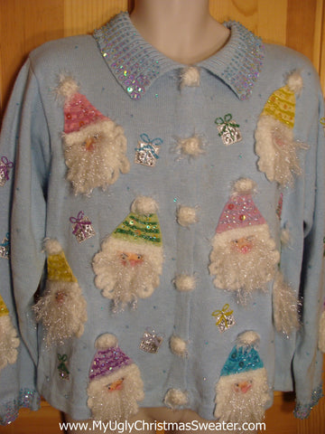 Gorgeous Baby Blue Christmas Sweater