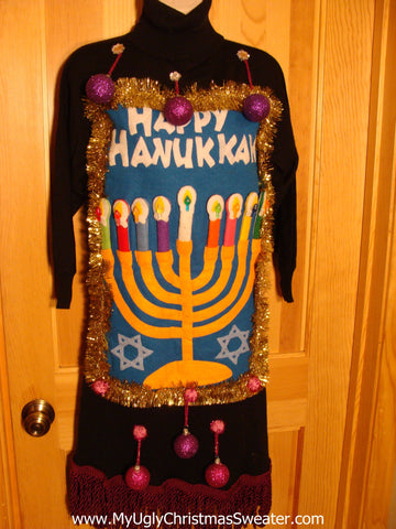 Hanukkah Sweater Dress