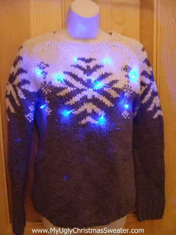 Classic Christmas Sweater with Lights