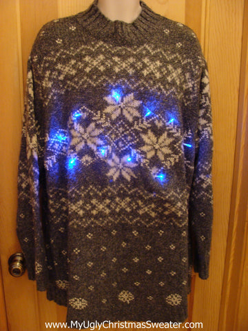 Plus Size Christmas Sweater with Lights