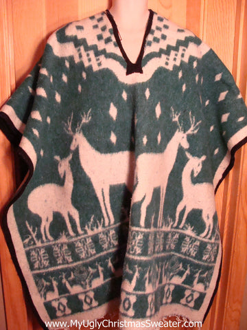 Christmas Retro Poncho Plus Size