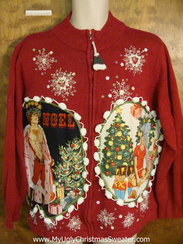 NOEL Hottie Guy Ugly Christmas Sweater