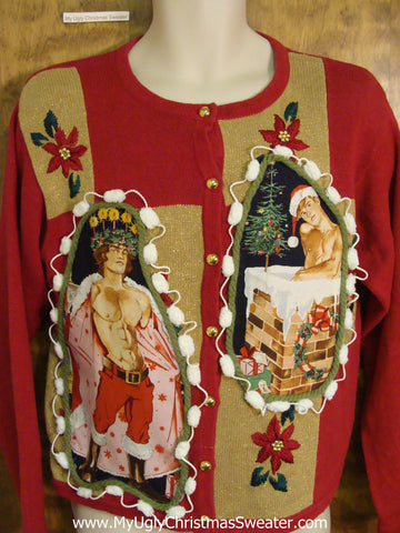 Hottie Guy Ugly Christmas Sweater