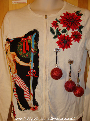 Hottie Guy Tacky Ugly Christmas Sweater 3D Ornaments (b50)