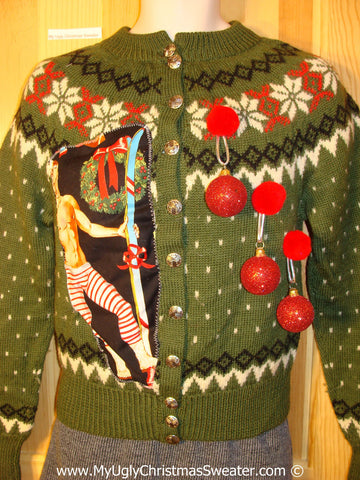 Hottie Guy Tacky Ugly Christmas Sweater 3D Ornaments (b59)