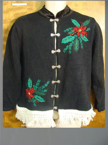Ugly Poinsettias Ugly Xmas Sweater