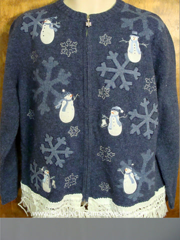 Snowflakes and Snowmen Ugly Christmas Jumper