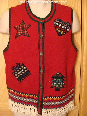 Ugly Christmas Sweater Vest Simply Tacky