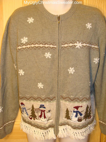 Ugly Christmas Sweater Winter Wonderland with Snowmen