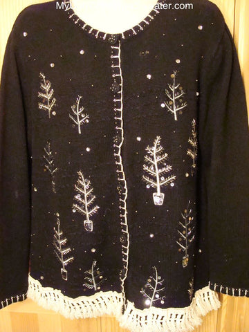 Ugly Christmas Sweater with Night Forest