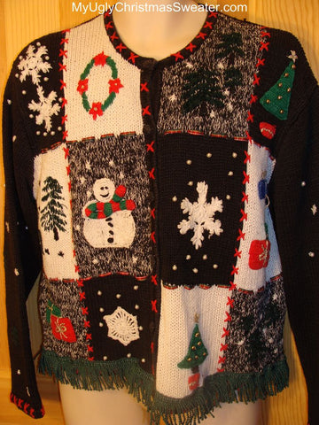 Ugly Christmas Sweater Grid of Winter Wonderland