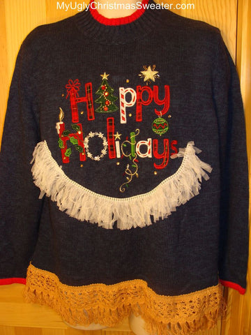 "Ugly Christmas Sweater ""Happy Holidays"""