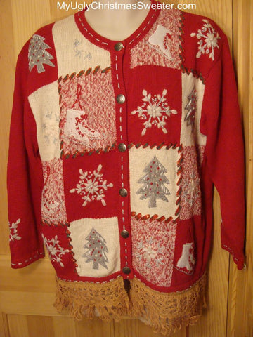 Ugly Christmas Sweater Festive Red Winter