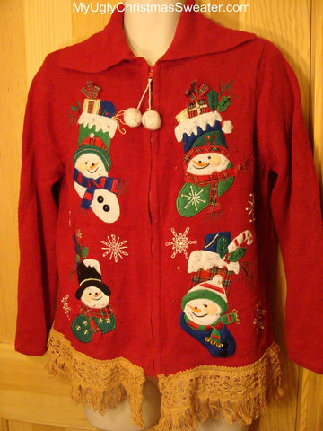 Ugly Christmas Sweater Snowmen