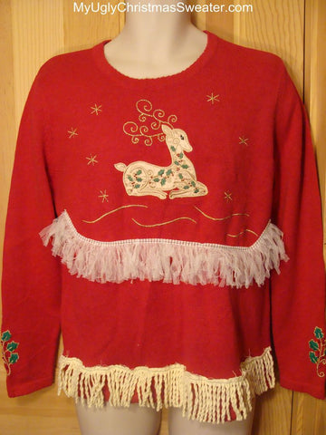 Ugly Christmas Sweater Pretty Reindeer