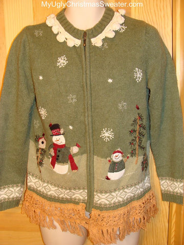 Ugly Green Christmas Sweater