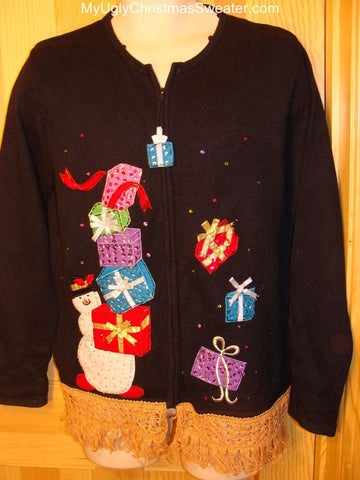 Ugly Christmas Sweater Tumbling Presents