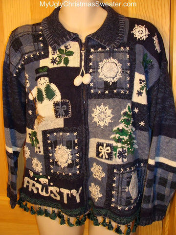 "Ugly Christmas Sweater ""Frosty"" Snowman"