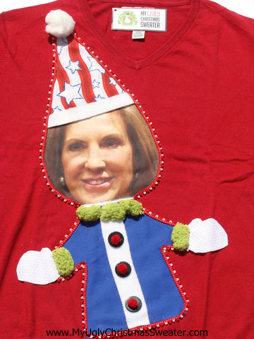 Carly Fiorina Christmas Sweater