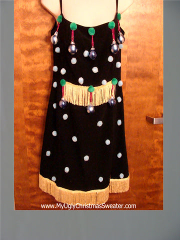 Sexy Christmas Dress with Ornaments