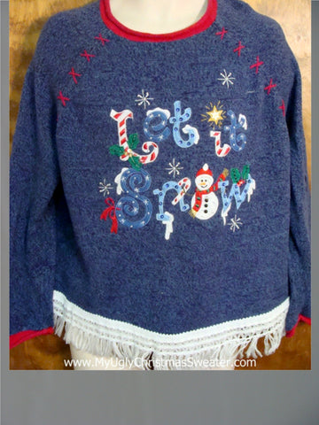 Let It Snow Ugly Christmas Jumper
