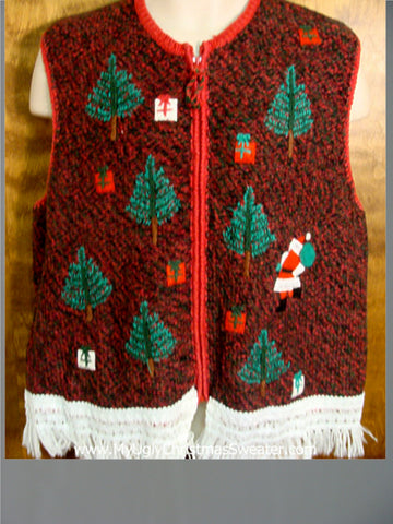Santa in the Woods Ugly Christmas Jumper Vest