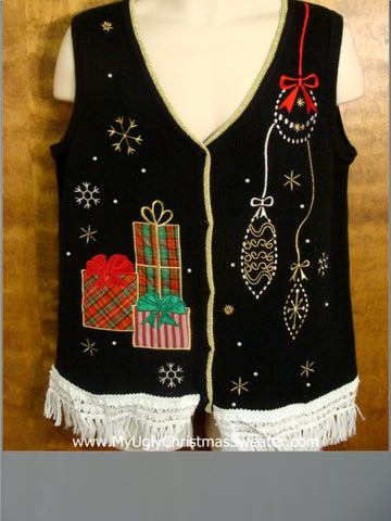 Ornaments and Presents Cute Christmas Sweater Vest